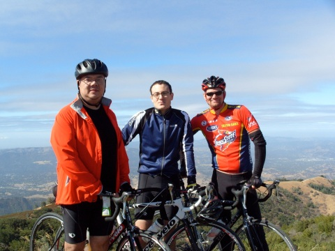 John, Evan and Ryan at the top of Mount Diablo