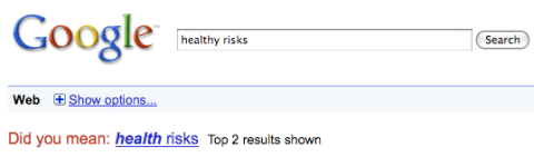 Healthy risks might be health risks