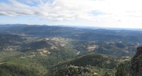 View From The Bear on Mount St. Helena