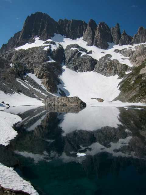 Minarets from Iceberg Lake