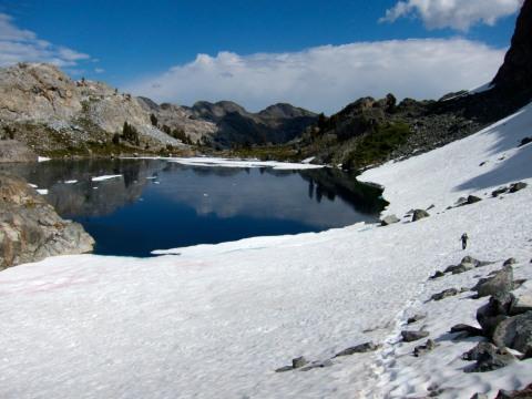 Snow field around Iceberg Lake